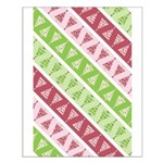 Striped Funky Christmas Small Poster