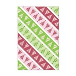 Striped Funky Christmas Mini Poster Print