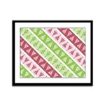 Striped Funky Christmas Framed Panel Print