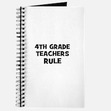 4th Grade Teachers Rule Journal