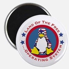 Tux - Land of the Free Magnet