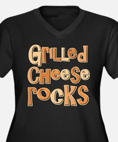 Grilled Cheese Rocks Lover Women's Plus Size V-Nec