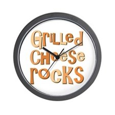 Grilled Cheese Rocks Lover Wall Clock