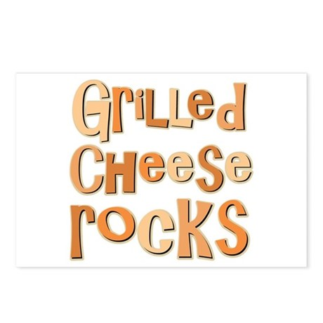 Grilled Cheese Rocks Lover Postcards (Package of 8