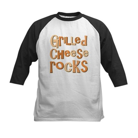 Grilled Cheese Rocks Lover Kids Baseball Jersey