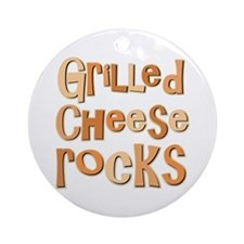 Grilled Cheese Rocks Lover Ornament (Round)
