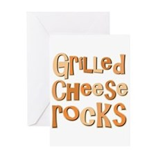 Grilled Cheese Rocks Lover Greeting Card