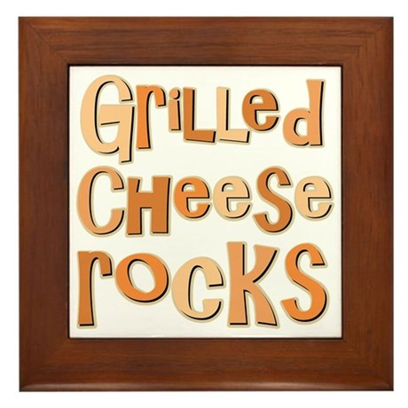 Grilled Cheese Rocks Lover Framed Tile