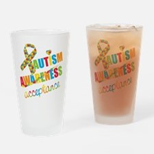Autism Acceptance Drinking Glass