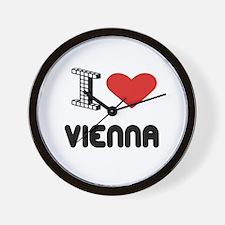 I Love Vienna City Wall Clock