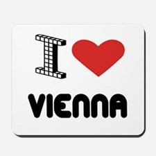 I Love Vienna City Mousepad
