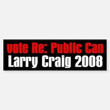 Vote Re: Public Can Bumper Bumper Bumper Sticker