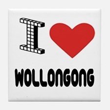 I Love Wollongong City Tile Coaster