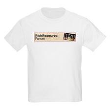 Kids White Rickenbacker Resource Guitar T-Shirt