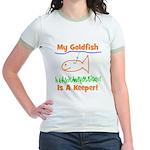 My Goldfish Is A Keeper! Jr. Ringer T-Shirt