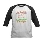 My Goldfish Is A Keeper! Kids Baseball Jersey