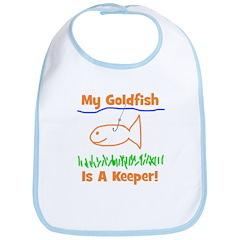 My Goldfish Is A Keeper! Bib
