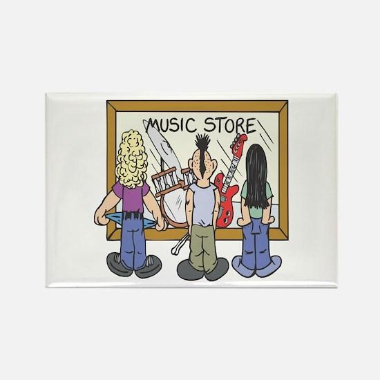Struggling Musicians Rectangle Magnet