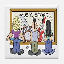 Struggling Musicians Tile Coaster