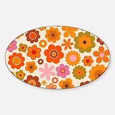 Cute Seventies Sticker (Oval)