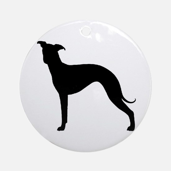 Greyhound Two 2 Round Ornament
