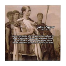 Julius Caesar Pictures Quotes Tile Coaster