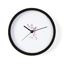 Butterfly Dreamers Wall Clock