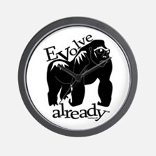 Evolve already gorilla Wall Clock