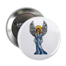 Silver-Blue Angel Button