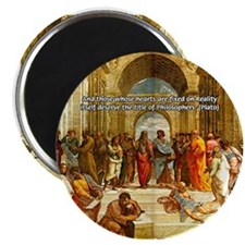 "Raphael School of Athens 2.25"" Magnet (10 pack)"
