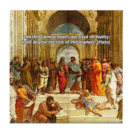 Raphael School of Athens Tile Coaster