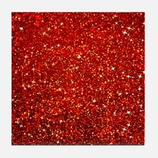 Red Glitter Tile Coaster