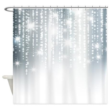 Silver Glitter Shower Curtain By Admin Cp62726417
