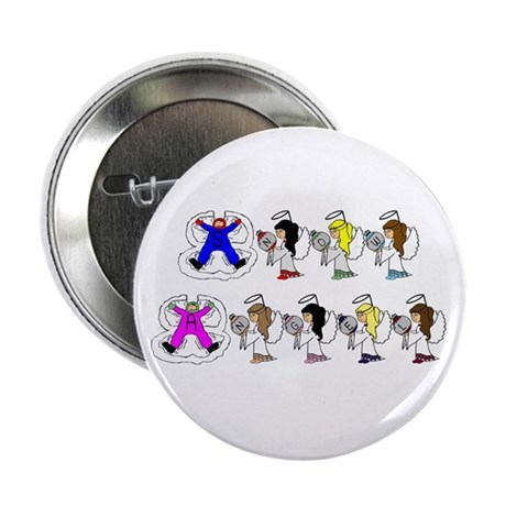 """snow angel 2.25"""" Button (10 pack)"""