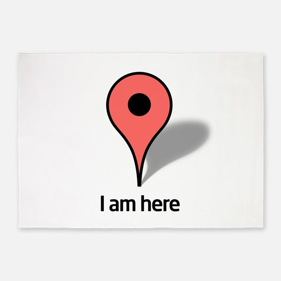 Google Map marker 5'x7'Area Rug