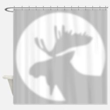 Moose Shadow Shower Curtain