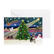 XmasMagic/Chihuahua Greeting Card