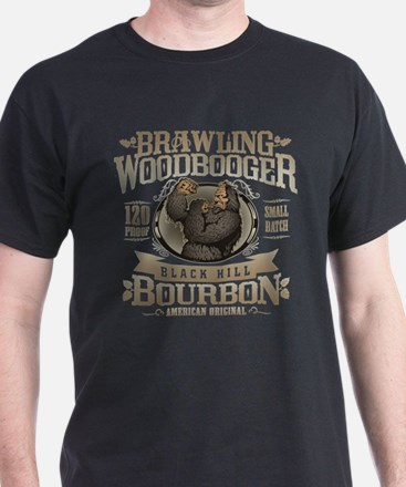 Brawling Woodbooger Black Hill Bourbon T-Shirt