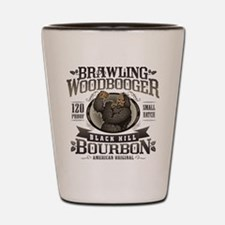 Brawling Woodbooger Black Hill Bourbon Shot Glass