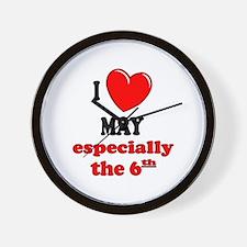 May 6th Wall Clock