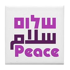 Prayer for Peace Tile Coaster