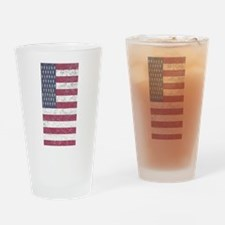 Vintage American flag 7 Drinking Glass