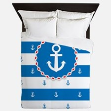 Nautical Pattern Queen Duvet