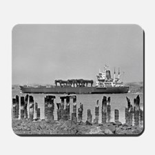 Big Boat with Pylons Mousepad