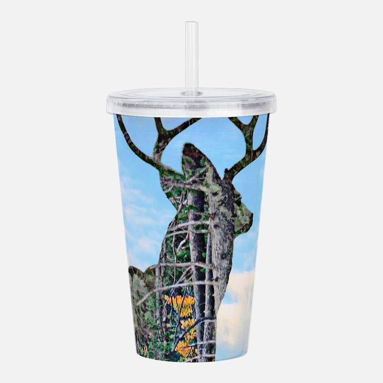 Forest buck merge Acrylic Double-wall Tumbler