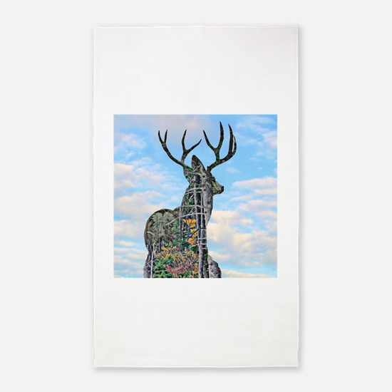 Forest buck merge Area Rug