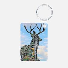 Forest buck merge Aluminum Photo Keychain