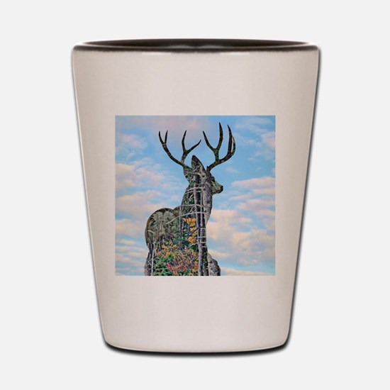 Forest buck merge Shot Glass