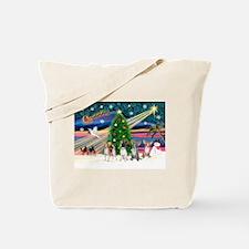 XmasMagic/Chihuahuas Tote Bag
