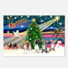 XmasMagic/Chihuahuas Postcards (Package of 8)